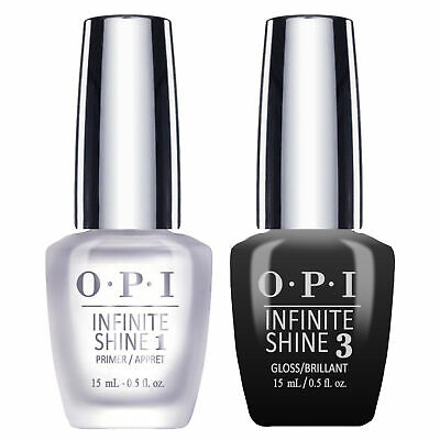 OPI Infinite Shine Nail Lacquer - Prime Base + Gloss Top Coat DUO 15ml/0.5oz