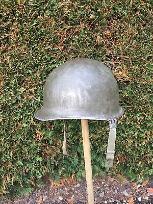 WW2 US M1 Helmet Original. 1944 Stamp Code 998A. Liner And Chinstrap. War Relic
