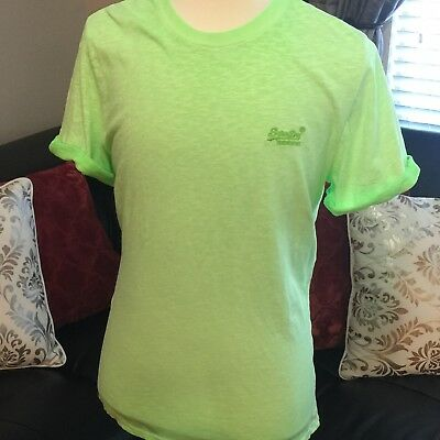 New With Tags Superdry Originals Surge Green Low Roller Orange Label Tshirt XXL