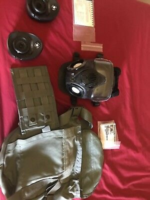 Authentic Military M50 JSGPM GAS MASK And  Mask Mask Carrier (Medium )