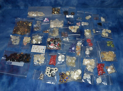 Large Lot Of Vintage Antique Buttons Assorted Collection Hobby Craft Etc