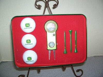 New John Deere Limited Edition Golf Set Collectible Tin by Zolan