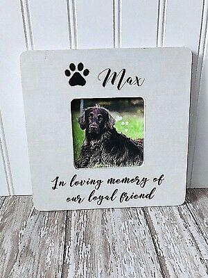 PET MEMORIAL PICTURE Frame - Paw Prints on my Heart Poem - In Memory ...