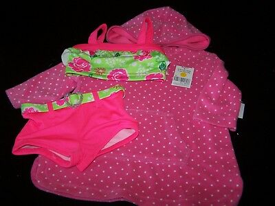 18 Mos~Pink/Green Floral Swimsuit/Kidgets & Pink Dot Cover-Up/Circo~NWCOT~pg18