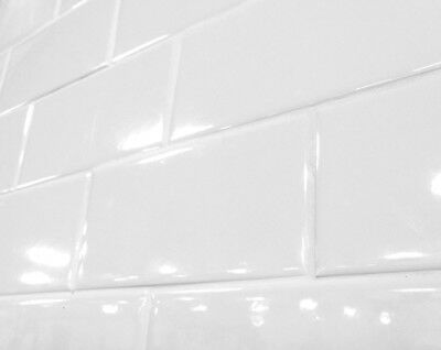 White 3x6 Shiny Glossy Finish Ceramic Subway Tile Backsplash Wall Sample Order