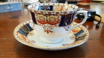 Vintage Art Deco Royal Vale Cup and Saucer Imari pattern