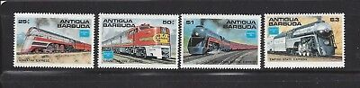 Antigua & Barbuda - 934 - 937 - Mnh - 1986 - Great American Trains