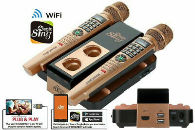 Magic Sing E5 WiFi 2 Wireless Mic Karaoke 12K Eng 12MON 220K International songs