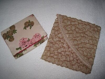 Vintage collectable hankie, handkerchief, scarf or nylon stockings pouch or bag