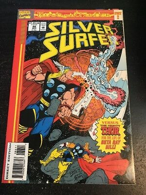 Silver Surfer#86 Incredible Condition 9.0(1993) Thor, Beta Ray Bill, Warlock !!