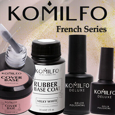 KOMILFO DELUXE Series FRENCH Collection Gel Nail Color Polish 8 ml Pink Beige