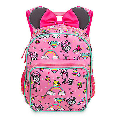 NWT Disney Store Minnie Mouse Backpack School Girls Toddler Junior Size