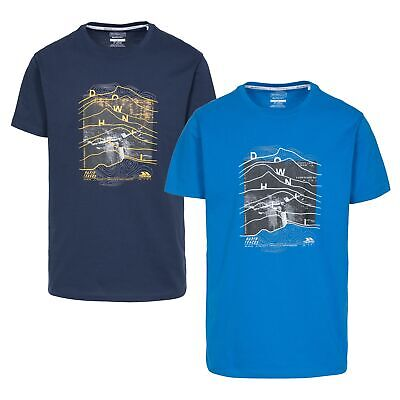 Trespass Downhill Men`s Top Summer T-Shirt Cotton Blend