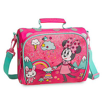 NWT Disney Store Minnie Mouse Club House Lunch Box Tote Bag School Pink Girl