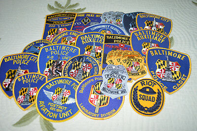 Baltimore City Maryland Police Patches Collection