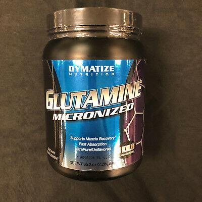 Dymatize Glutamine Micronized 1000gms 1 kilo Muscle Recovery  Expires March 2018