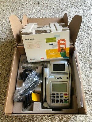 NEW First Data FD200ti Credit Card Terminal and Check Reader