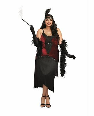 New Dreamgirl 11102X Plus Size Million Dollar Baby Flapper Costume