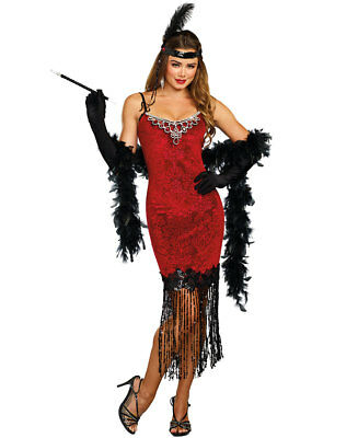 New Dreamgirl 11164 1920's Ruby Red Beaded Flapper Costume