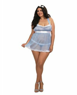 New Dreamgirl 11050X Plus Size Gingham Kansas Cutie Bedroom Costume