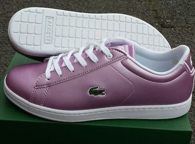 Lacoste Womens Junior Leather Carnaby Evo Trainers RRP £85 B Grade