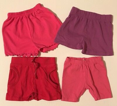 Mothercare Next TU & Matalan Baby Girl Shorts 9-12 Months Pink Red Purple