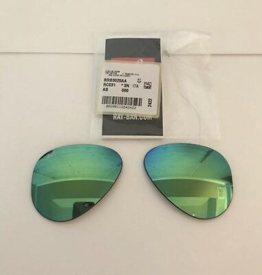 Ray-Ban Large Aviator RB3025  **lenses only** Glass Green Mirrored Glass 58mm