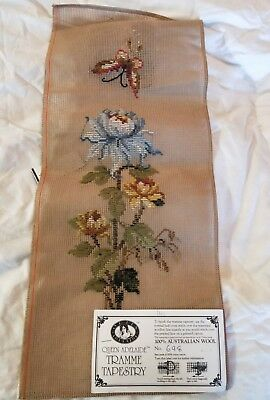 BRAND NEW QUEEN ADELAIDE Trammed TAPESTRY CANVAS & WOOL No. 698 Flowers