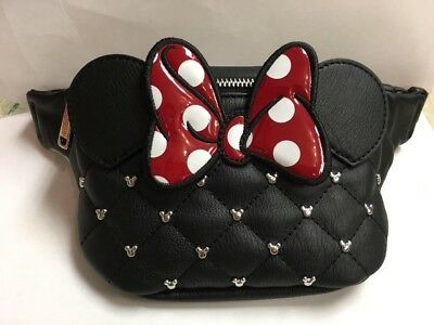 Loungefly Disney Minnie Mouse Gem And Bow Fanny Pack Zip Adjustable