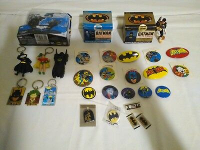 Batman + Joker + Collectibles = Topps Movie Cards SETS + Pins + Keychains + Toys