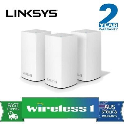 Brand New Linksys WHW0103-AU Velop Dual Band 3 Pack AC1300 MU-MIMO Home Mesh WiF
