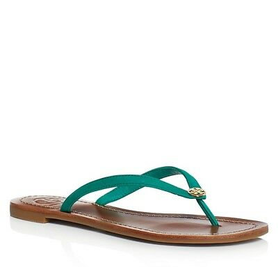 2f1eef1d32b9 NIB TORY BURCH  125 TERRA BRIGHT JUNGLE GREEN THONG FLIP FLOP SANDALS Sz 5.5