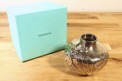 "Tiffany & Co. Sterling Silver .925s Orchid Flower Vase 3-1/4"" Tall Authentic"