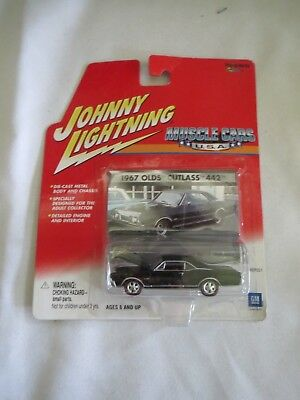 Vintage New Black Johnny Lightning 1967 Olds Cutlass 442  Muscle Cars