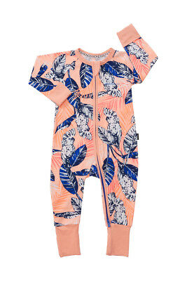 Bonds Baby Long Sleeve Zip Wondersuit Romper sizes 0000 000 00 0 1 2 3 Cockatoo