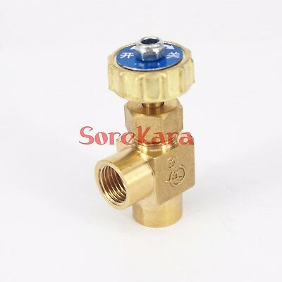"Elbow Brass Plug Needle Valve 1/8"" 1/4"" BSP Female Threaded 0.8 Mpa"