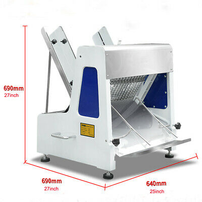 "110V 5/8"" Commercial Electric Bread Slicer 23 Pieces Bread Cutter Machine"
