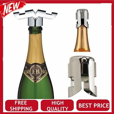 Stainless Steel Champagne Sparkling Wine Liquor Bottle Stopper Saver Sealer CorF
