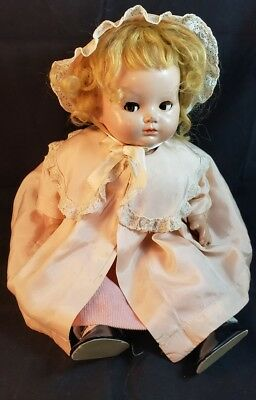 "Vintage Effanbee 16"" FLIRTY EYES Composition and Cloth  Doll In Vintage Clothes"