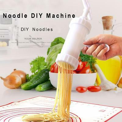 1 set Pasta Noodle Maker  Machine For Fresh Spaghetti With 7 Moulds