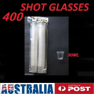 BULK 300 Plastic Clear Shot Glasses 30mL Disposable FREE SHIPPING