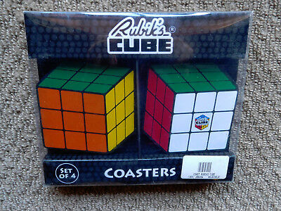 Vintage Rubik's Cube Coasters x 4 licensed 1974 - unsold shop stock