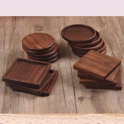 1x Wooden Heat Insulation Tea Coasters Cup Holder Mat Pad Coffee Drinks Placemat