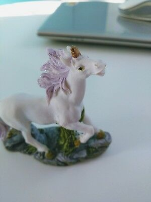 Small White Unicorn Statue