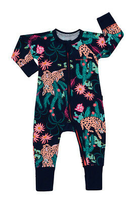 Bonds Baby Long Sleeve Zip Wondersuit Romper sizes 00 0 1 2 3 Desert Bobcat