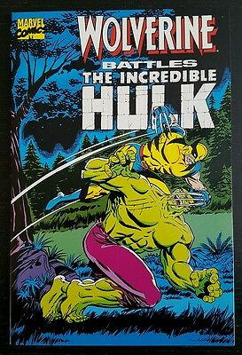 WOLVERINE BATTLES THE INCREDIBLE HULK (1989 MARVEL) *1st APP. OF WOLVERINE* NM
