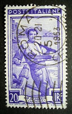 Italy - ROMA 1953 Post Mark Stamp, Great Stamp