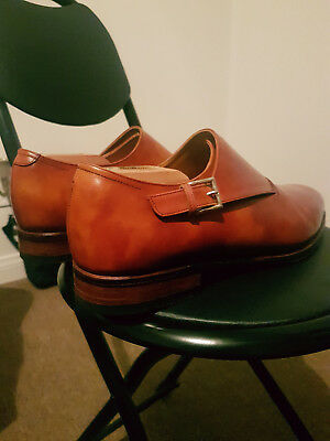 MEERMIN Mallorca MTO Limited Imported Cutaway Single Monk Strap - 9UK 9.5US