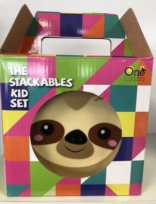 kids dinner set 4 Piece The Stackables Sloth