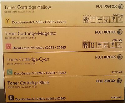 Genuine Fuji Xerox Toner Cmyk For Docucentre Iv C2260/c2263/c2265